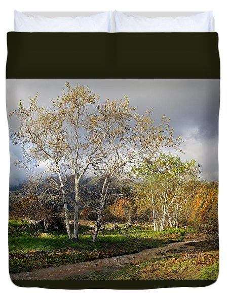 Ventura River Preserve Winter 2017 Duvet Cover