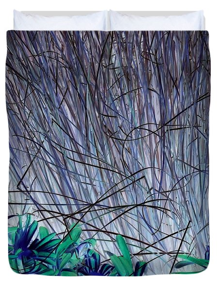 Venus Blue Botanical Duvet Cover