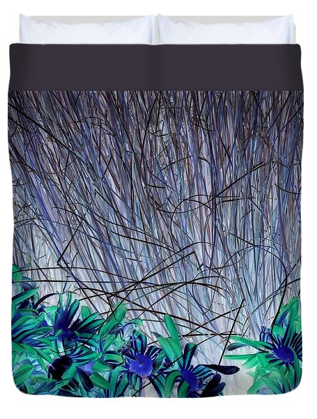 Venus Blue Botanical Duvet Cover