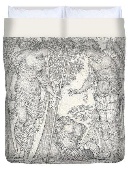 Venus Bringing Armor To Aeneas Duvet Cover
