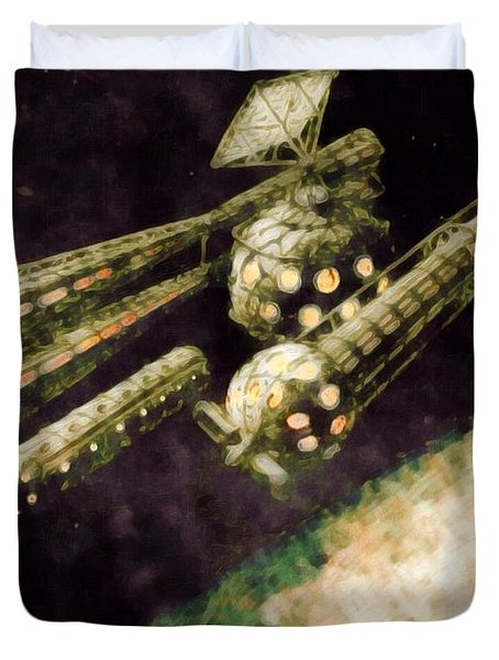 Venus Research Station Duvet Cover