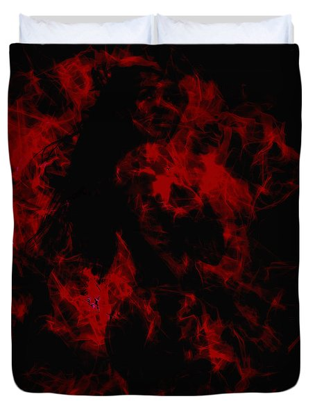 Venus Williams On Fire Duvet Cover