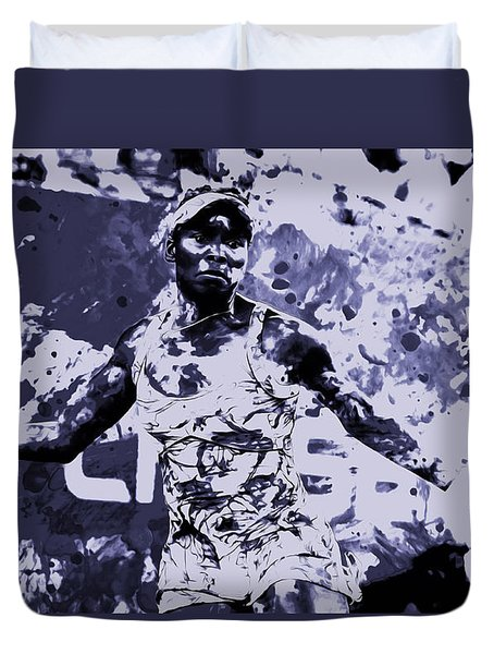 Venus Williams Stay Focused Duvet Cover by Brian Reaves