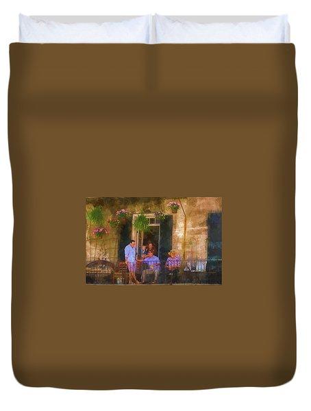 Veranda Bleue Duvet Cover