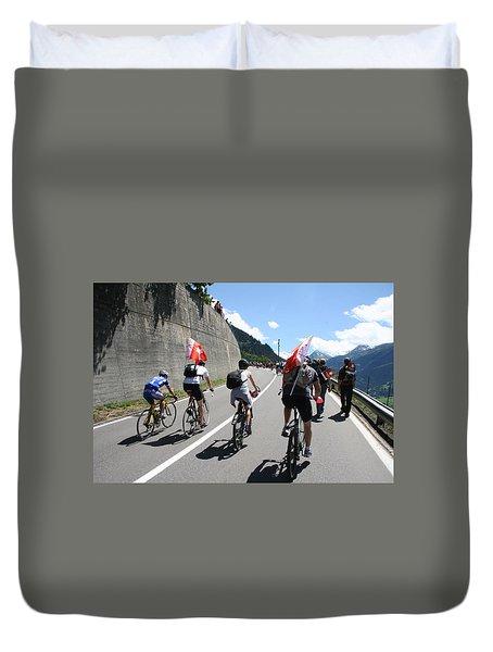 Verbier - Tour De France 2009 Duvet Cover