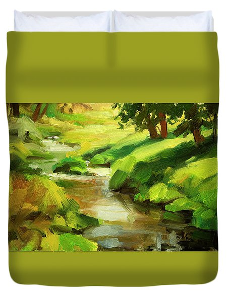 Verdant Banks Duvet Cover