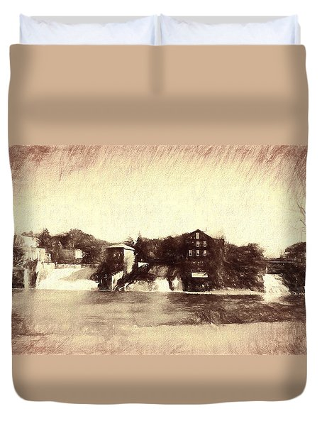 Vergennes Falls, Vt 2015 Duvet Cover