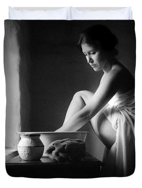 Vermeer Footwasher Duvet Cover