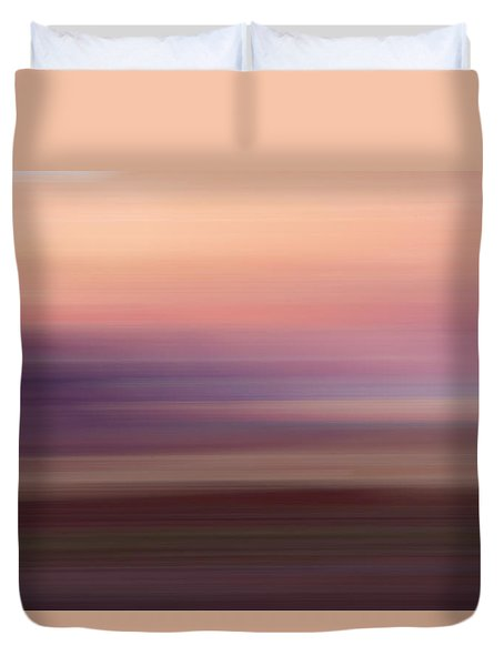 Vermilion Cliff At Dusk Duvet Cover