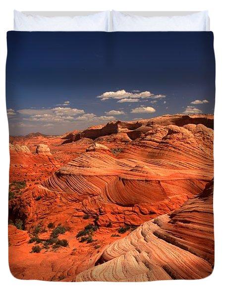 Vermilion Cliffs Rugged Landscape Duvet Cover