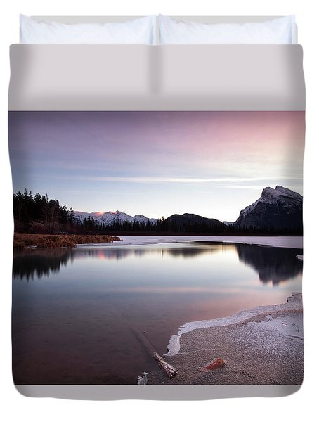 Vermillion Ice Break Duvet Cover