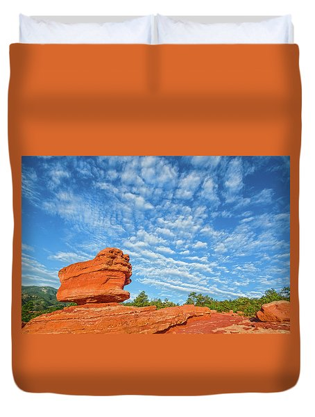 Vermillion Is The Color Of The Rock.  Duvet Cover