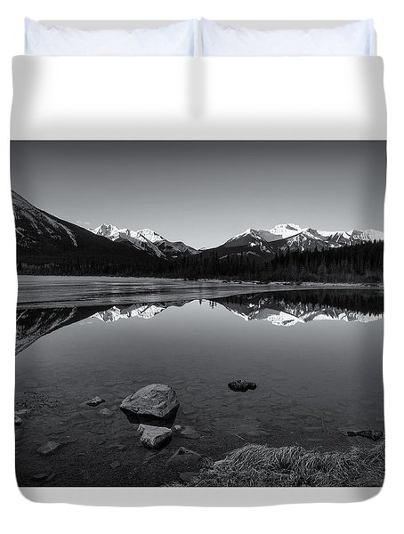 Vermillion Mono Duvet Cover