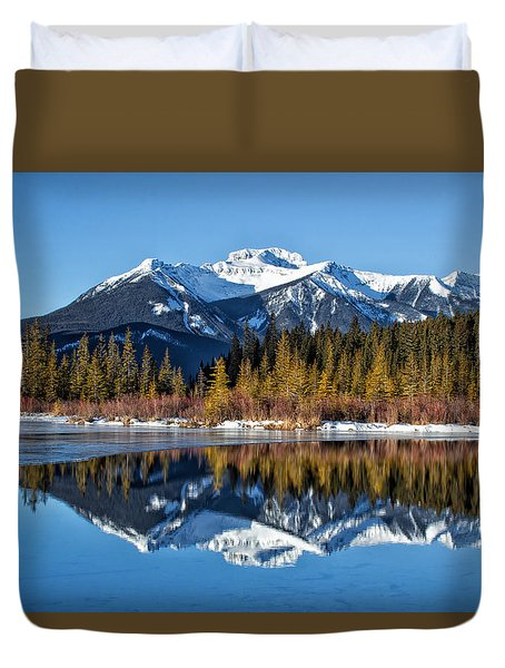 Vermillion Reflections Duvet Cover