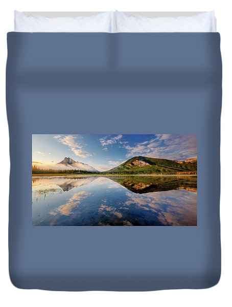 Vermilion Reflections Duvet Cover