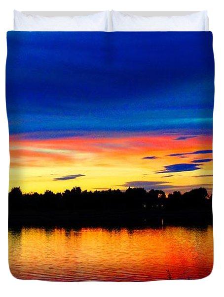 Vermillion Sunset Duvet Cover