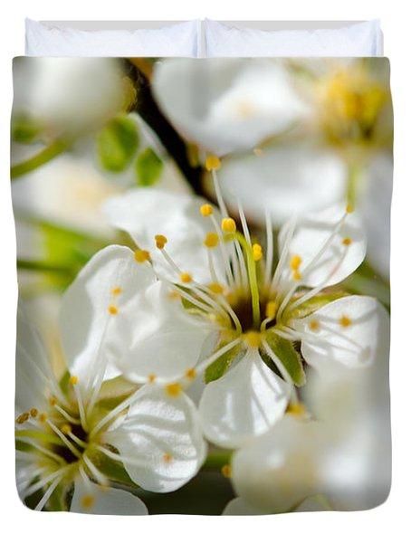 Vermont Apple Blossoms Duvet Cover