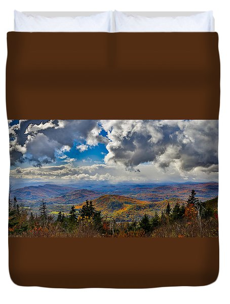 Vermont Autumn From Mt. Ascutney Duvet Cover