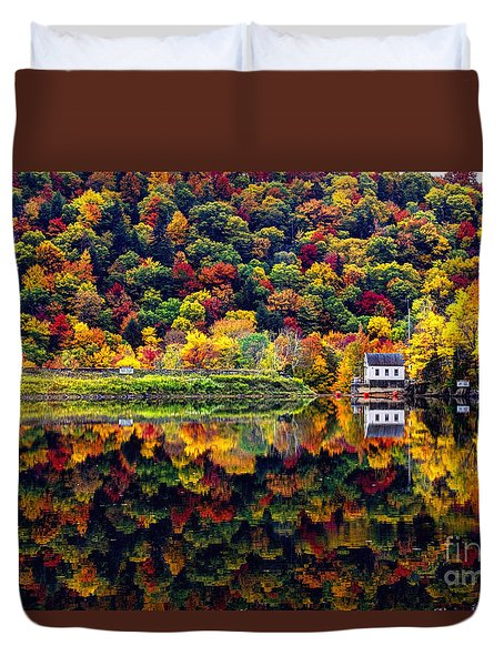 Vermont Autumn Reflections Duvet Cover