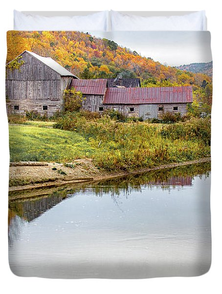 Vermont Countryside Duvet Cover