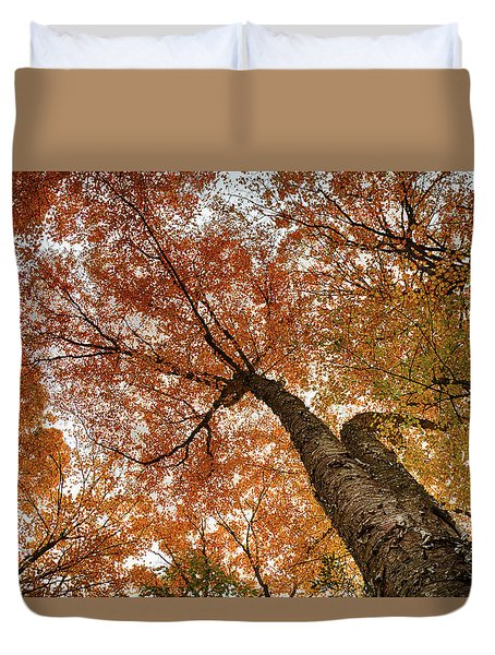 Vermont Fall Foliage Views Duvet Cover
