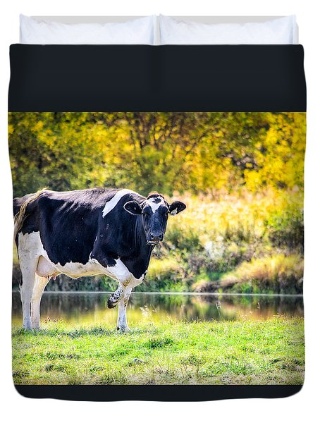 Vermont Farms.01 Duvet Cover by Craig Szymanski