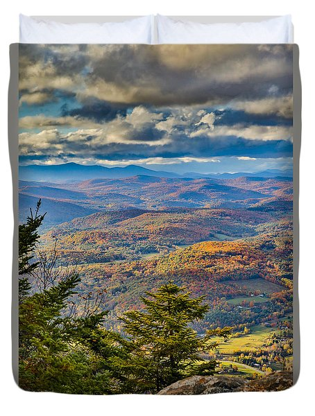 Vermont Foliage From Mt. Ascutney Duvet Cover