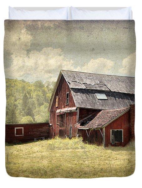 Vermont Red Barn  Duvet Cover