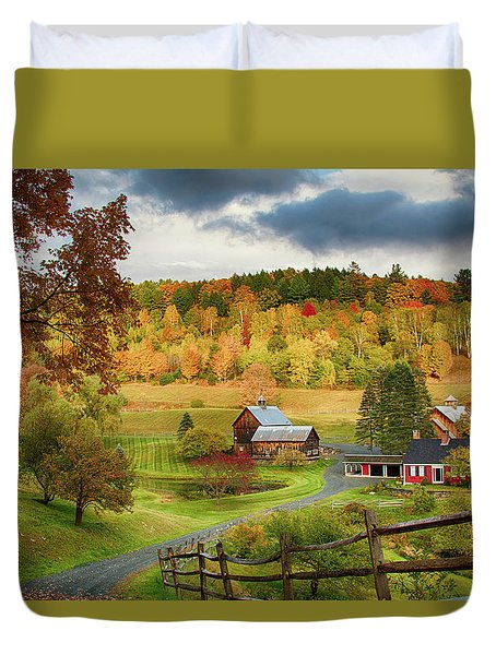 Vermont Sleepy Hollow In Fall Foliage Duvet Cover