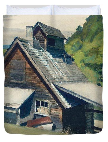 Vermont Sugar House Duvet Cover by Edward Hopper