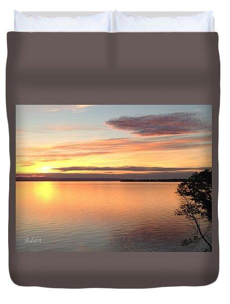 Vermont Sunset, Lake Champlain Duvet Cover by Felipe Adan Lerma