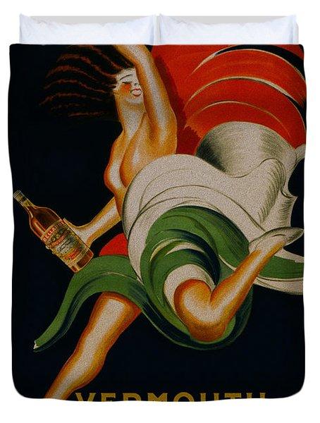 Vermouth Bellardi Torino Vintage Poster Duvet Cover