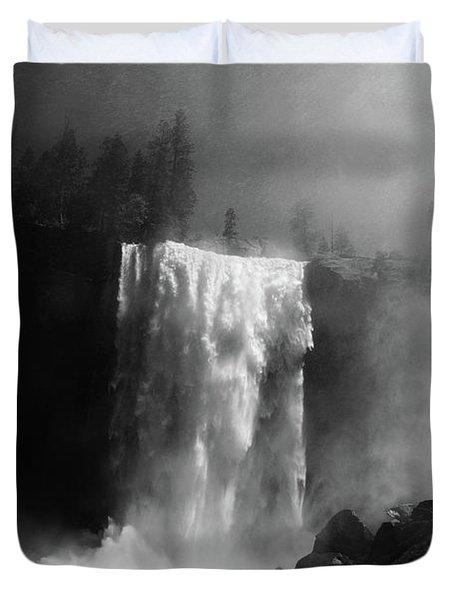 Vernal Fall And Mist Trail Duvet Cover