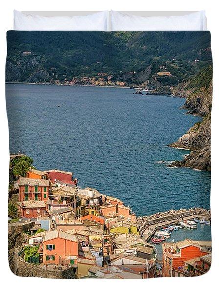 Vernazza Cinque Terre Italy Duvet Cover