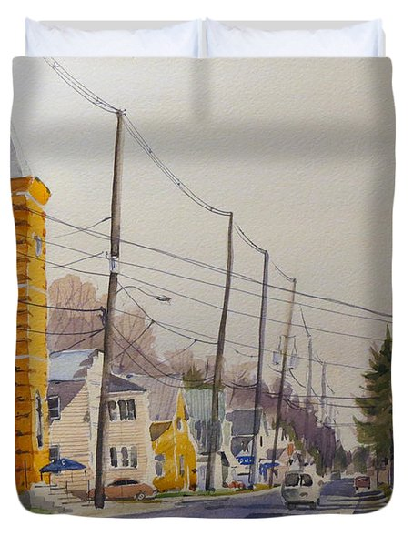 Verona Village Looking North Duvet Cover