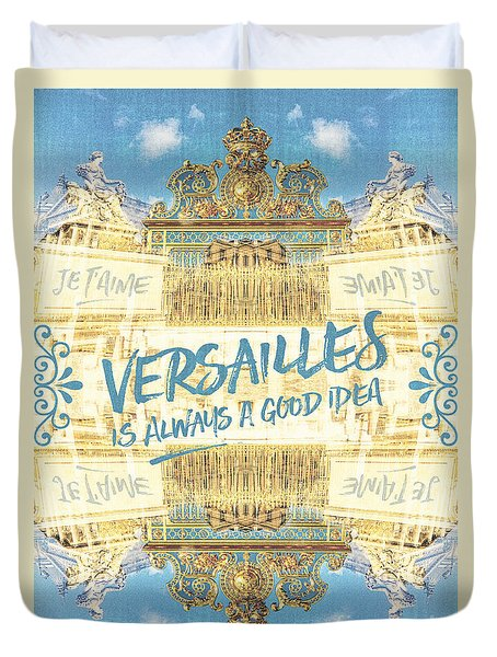Versailles Is Always A Good Idea Golden Gate Duvet Cover