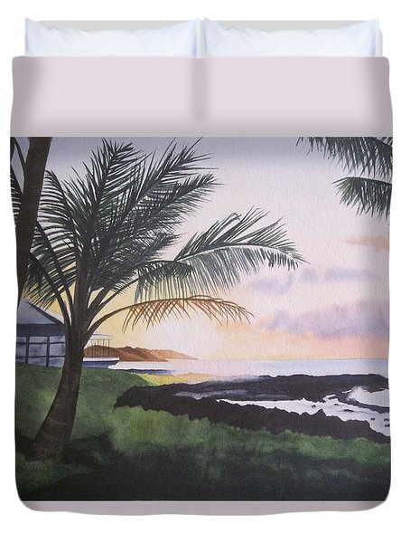Duvet Cover featuring the painting Version 2 by Teresa Beyer