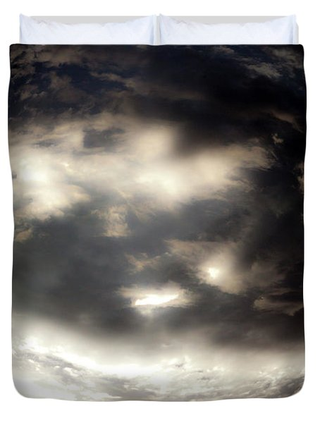 Duvet Cover featuring the photograph Versus by Eric Christopher Jackson