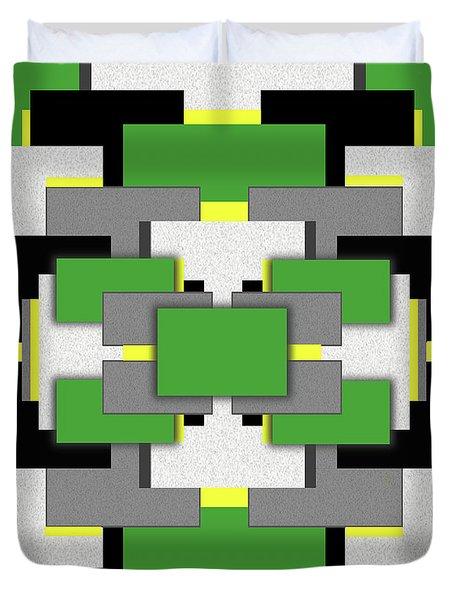 Vert Moderne Duvet Cover by Tara Hutton