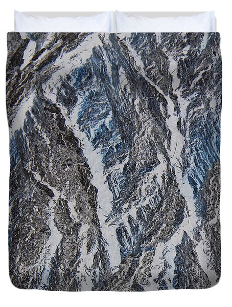 Duvet Cover featuring the photograph Vertical Climb by Lenore Senior