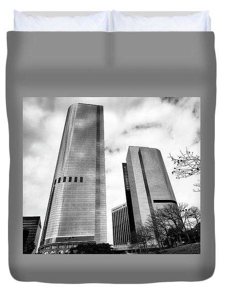 Vertical Growth Duvet Cover by Joseph Hollingsworth