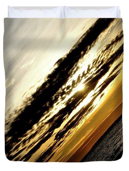 Vertical Horizon Duvet Cover