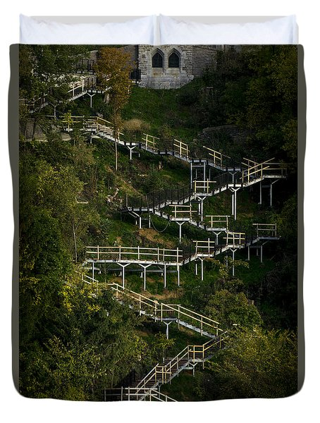 Vertical Stairs Duvet Cover