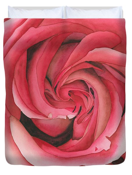 Vertigo Rose Duvet Cover by Ken Powers