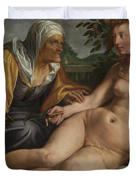 Vertumnus And Pomona, 1613 Duvet Cover