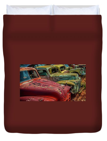 Very Late Models Duvet Cover