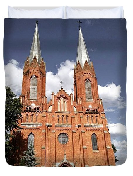 Very Old Church In Odrzywol, Poland Duvet Cover