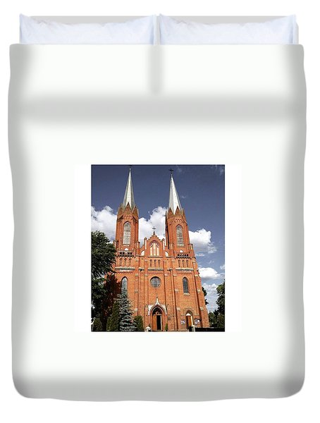 Very Old Church In Odrzywol, Poland Duvet Cover by Arletta Cwalina
