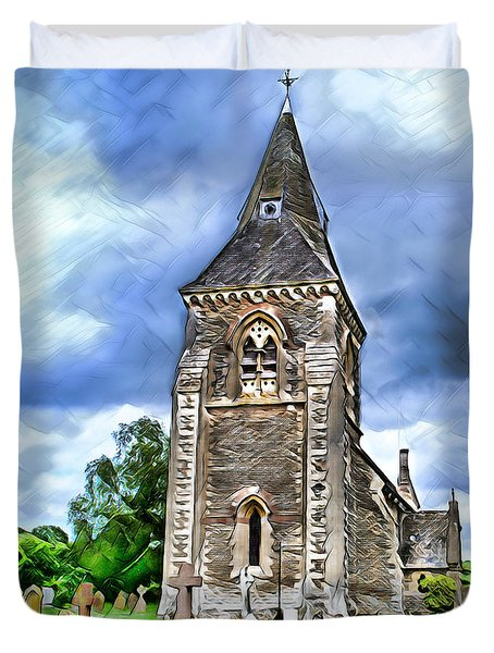 Very Old Church Duvet Cover