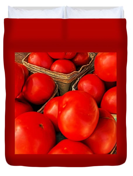 Very Red Tomatoes Duvet Cover